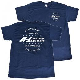A-1 RACING EXHAUSTS Tシャツ ネイビー